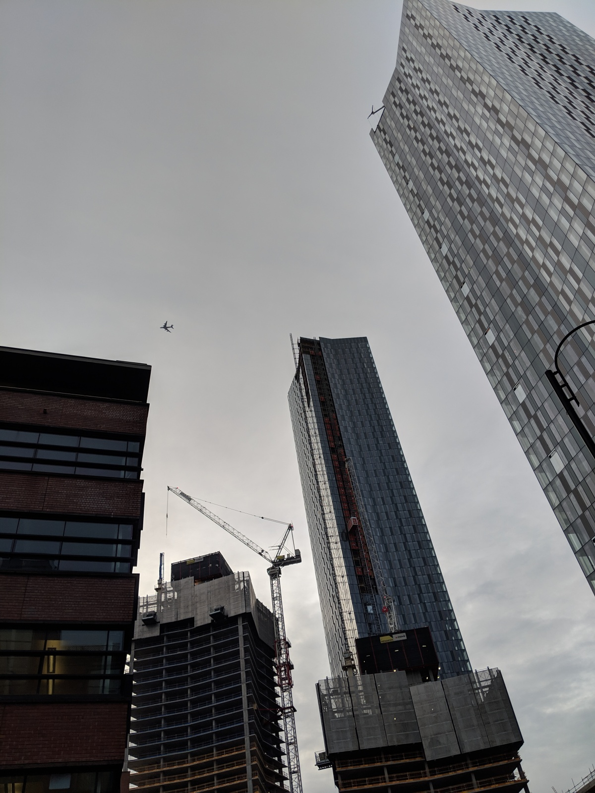 Deansgate Square site with A380 in background
